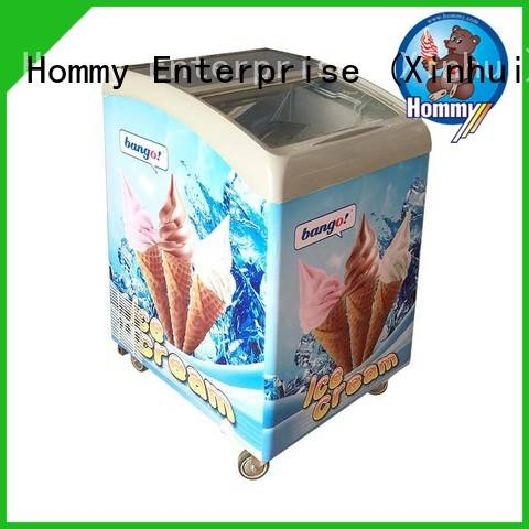 Hommy China gelato freezer wholesale for supermarket