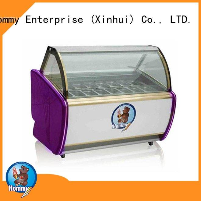 Hommy China ice cream display wholesale for supermarket