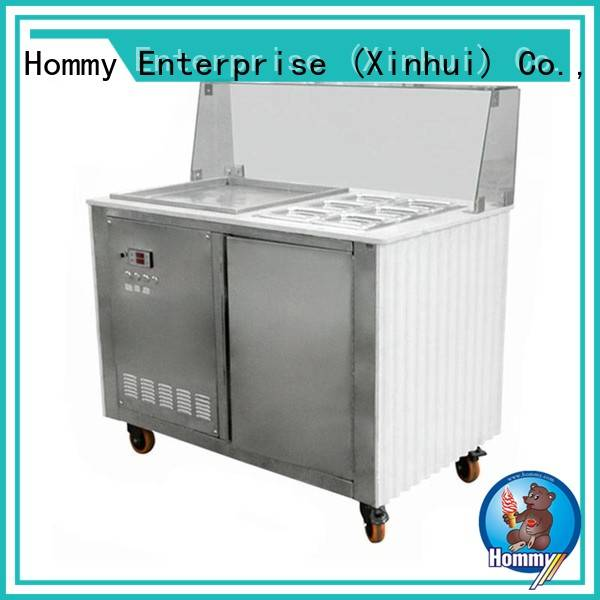 Hommy low-temperature effect ice cream roll maker manufacturer for road house