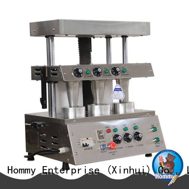Hommy electric pizza cone machine with pre-cooling system for store