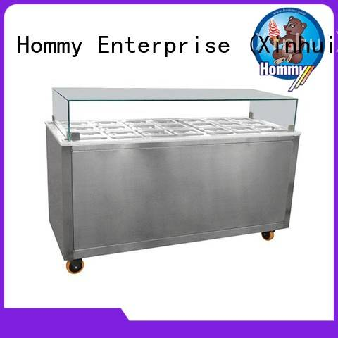 Hommy freezer gelato ice cream display case personalized for ice cream shop