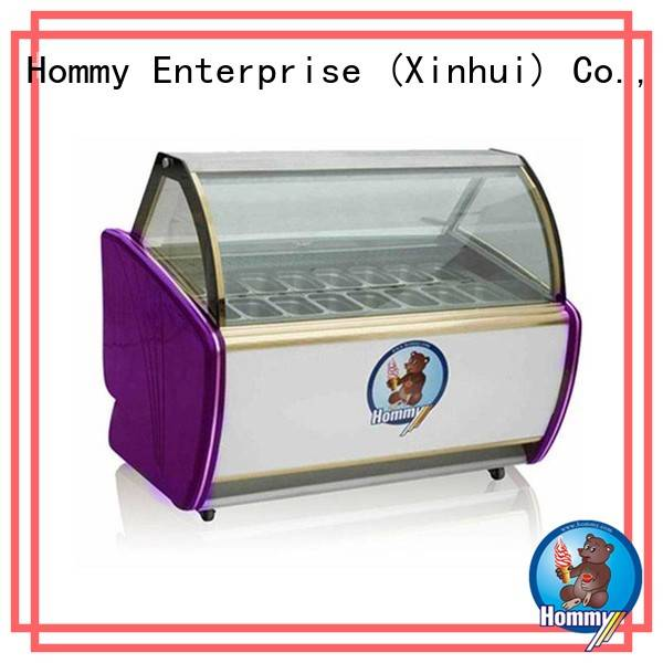 Hommy stainless steel gelato freezer factory directly sale for display ice cream