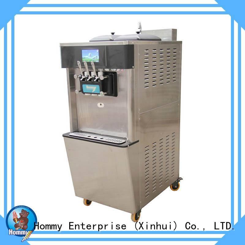 Hommy professional soft serve ice cream maker solution for food shop