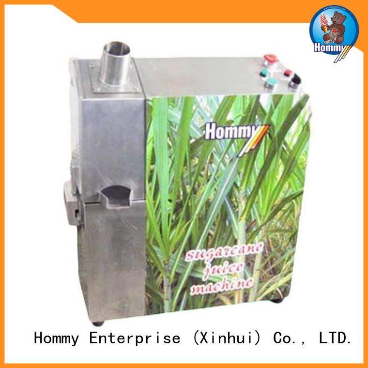 Hommy unreserved service sugarcan juice machine manufacturer for supermarket