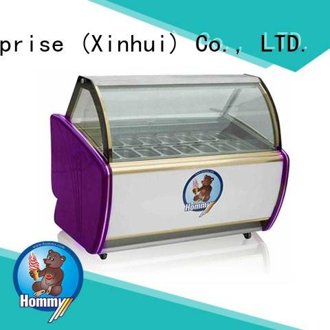 Hommy various colors popsicle freezer factory directly sale for supermarket