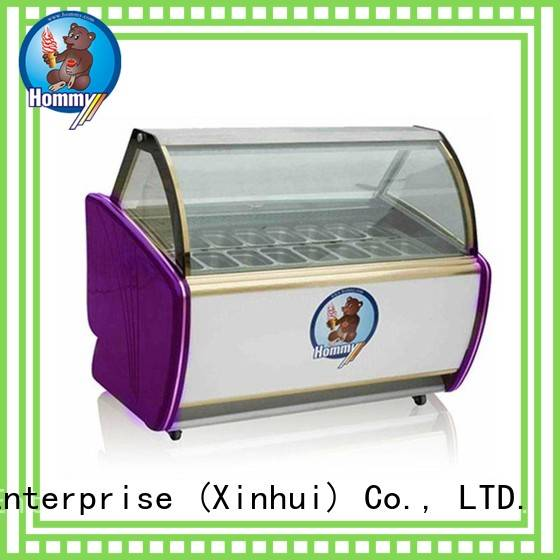Hommy commercial ice cream display case personalized for display ice cream