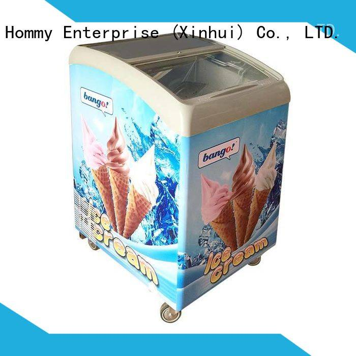 Hommy China ice cream showcase manufacturer for display ice cream