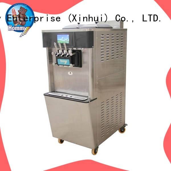 Hommy unreserved service commercial soft serve ice cream machine solution for supermarket