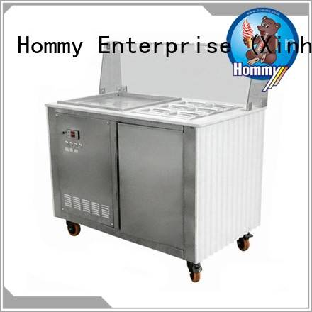 Hommy 19℃ to -22℃ ice cream roll machine price trendy designs for supermarket