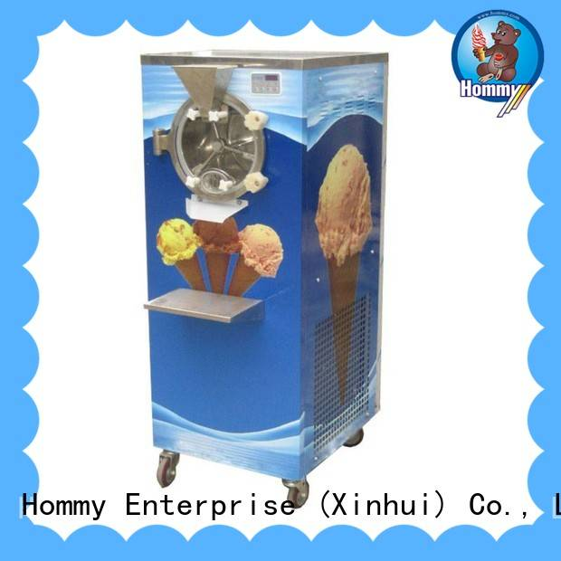 Hommy no slippage hard ice cream machine wholesale for long life use