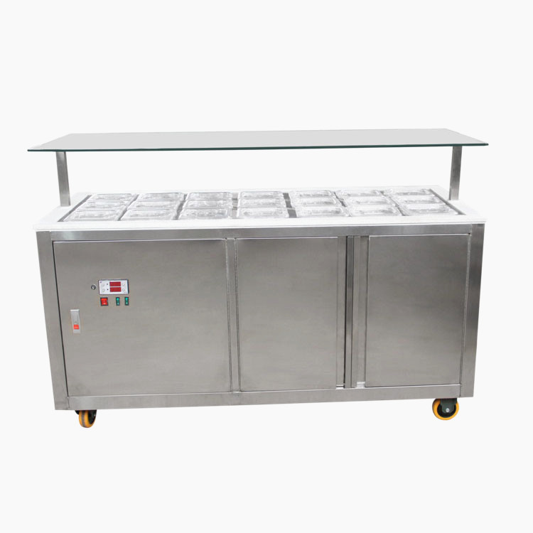 frozen yogurt toppings bar equipment&ice cream display cabinets