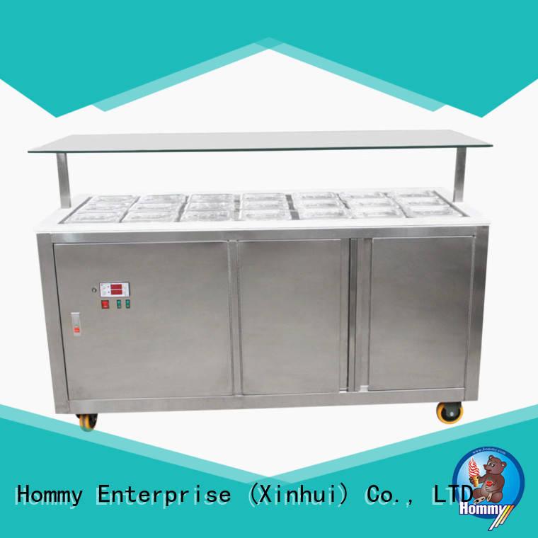 Hommy ice cream display design for ice cream shop