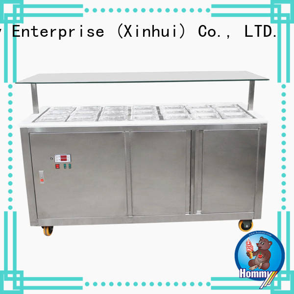 auto defrost ice cream display freezer personalized for supermarket Hommy