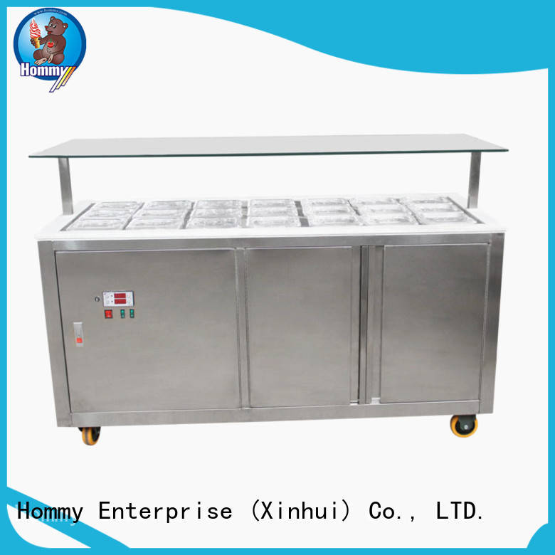 Hommy China ice cream display freezer from China for supermarket