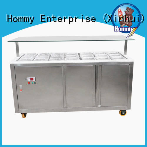 Hommy freezer gelato ice cream display counter personalized for ice cream shop