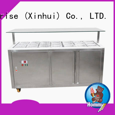 commercial gelato freezer personalized for display ice cream Hommy