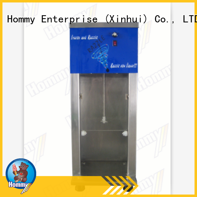 Hommy favorable price ice cream mixer machine factory for ice cream stands
