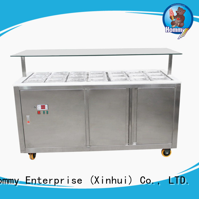 multifunctional ice cream display unit from China for ice cream shop