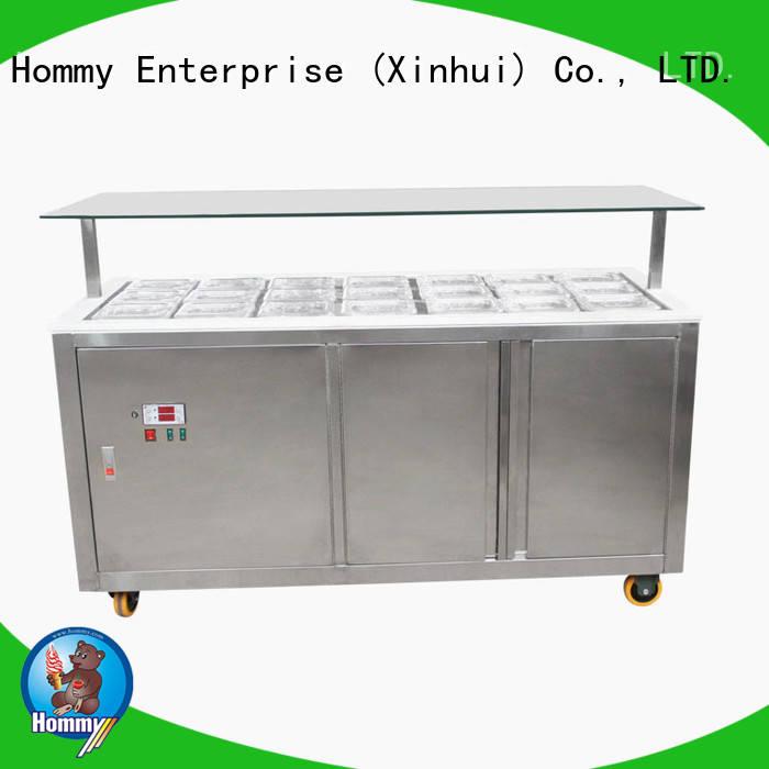 Hommy freezer gelato ice cream display case factory directly sale for ice cream shop