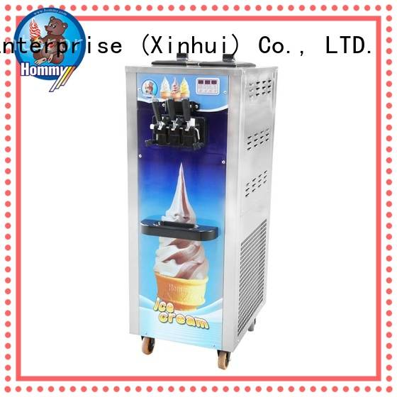 Hommy unrivaled quality soft serve ice cream machine solution for food shop