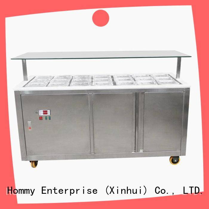 Hommy China popsicle freezer design for ice cream shop