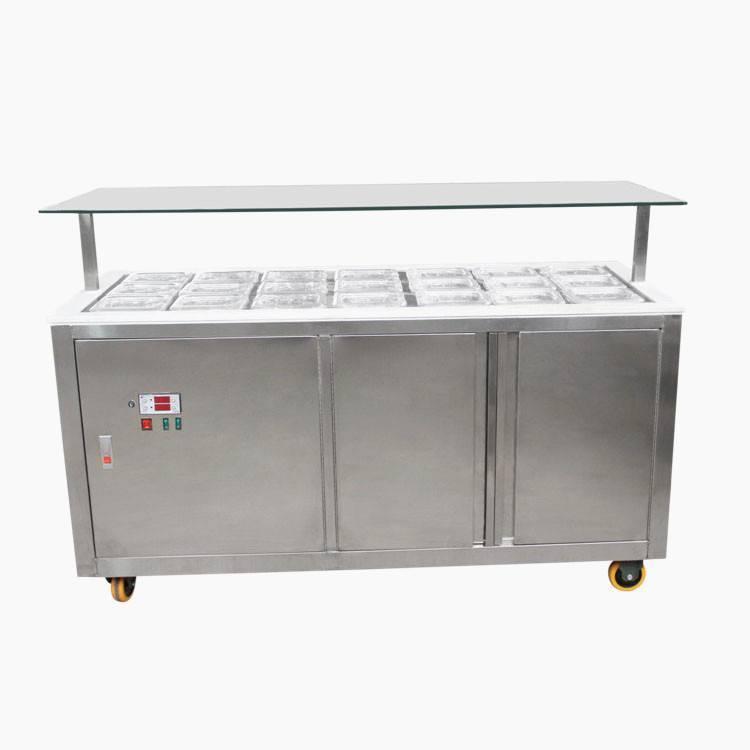 frozen yogurt toppings bar display equipment