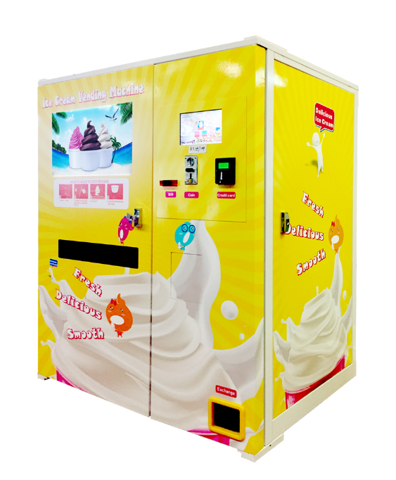 Vending ice cream machine