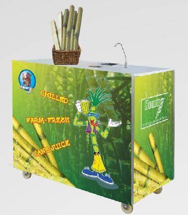 ZJ200  sugarcane juice machine with chriller and freezer