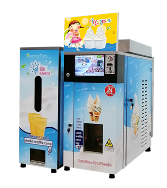 Modern Soft Serve Ice Cream Vending Machine