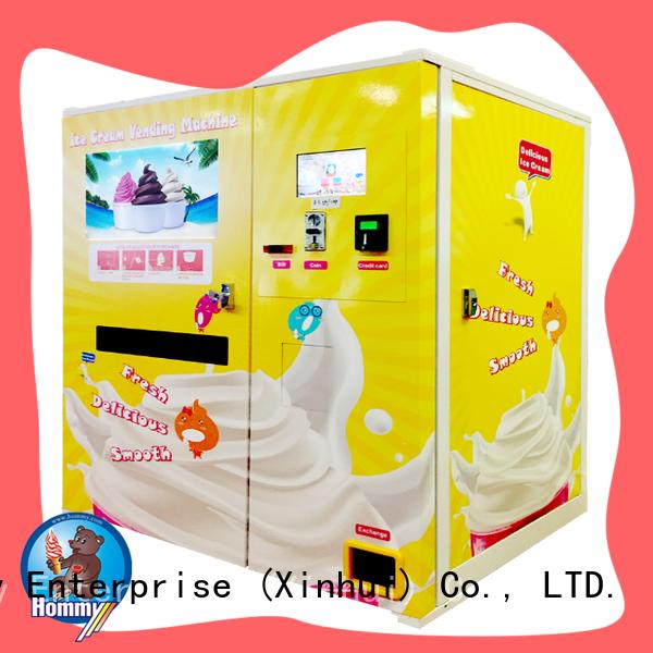 Hommy quality assurance ice cream vending machine wholesale for restaurants