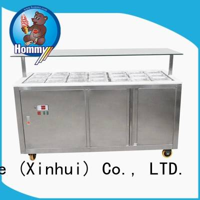 Hommy various colors commercial ice cream display freezer from China for supermarket