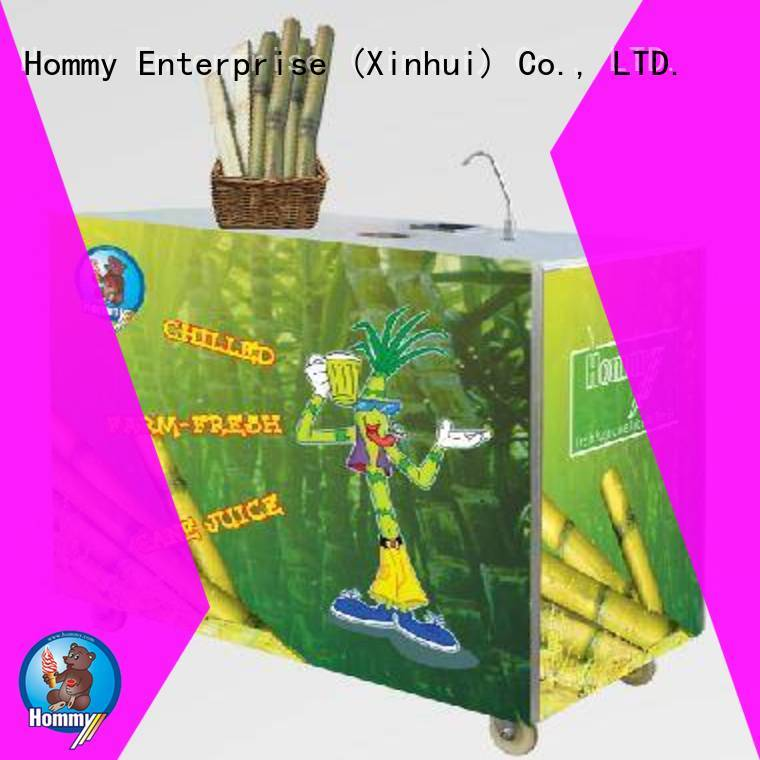Hommy new sugarcane extractor manufacturer for snack bar