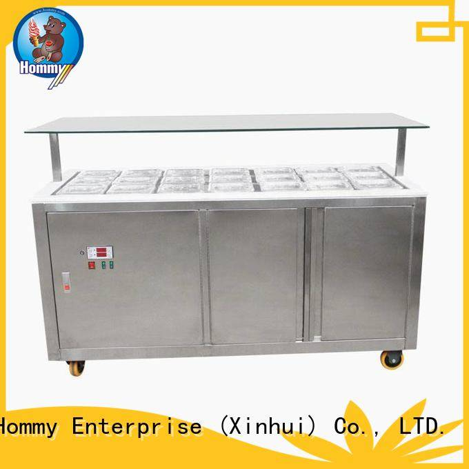 Hommy auto defrost ice cream display freezer supplier for ice cream shop