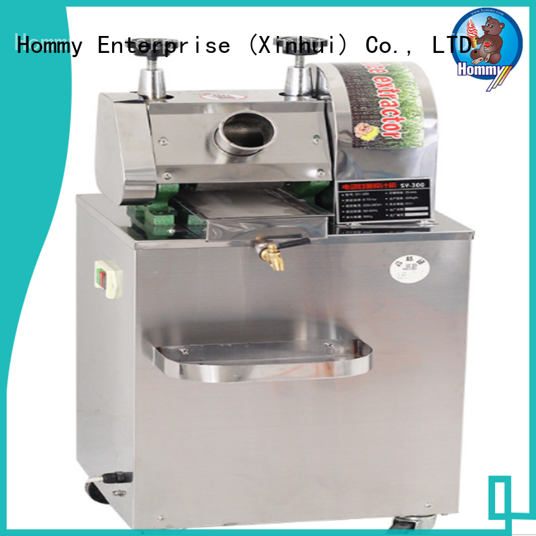 Hommy professional sugarcane juice extractor manufacturer for supermarket