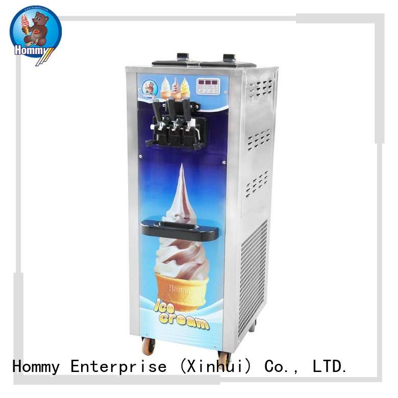 Hommy unreserved service soft serve ice cream machine wholesale for food shop
